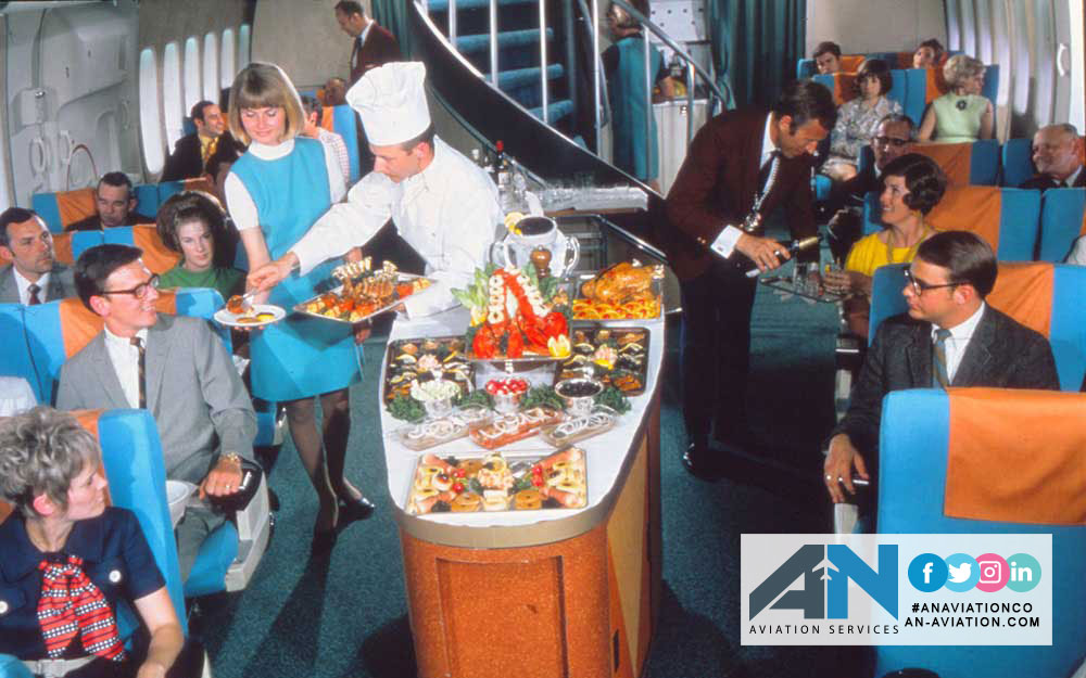A mouthwatering look at what aeirplans meals used to be like